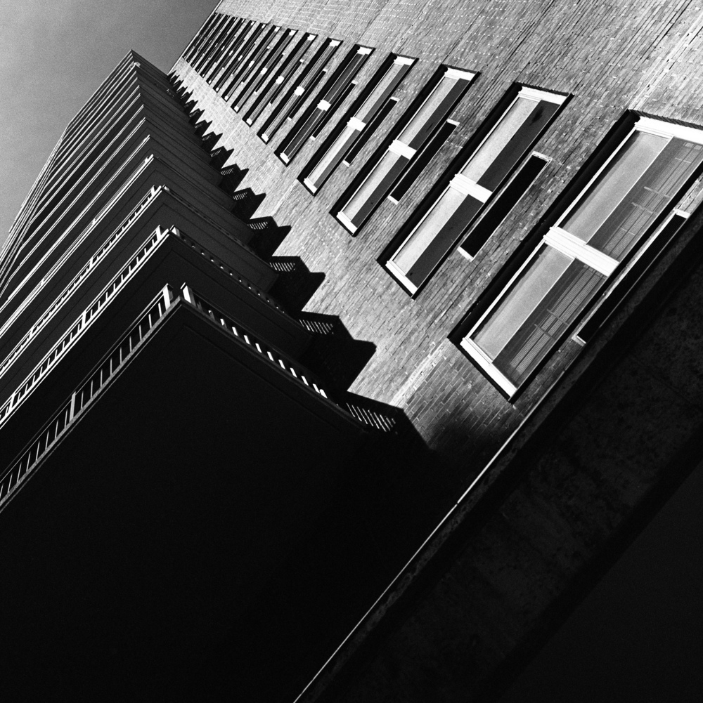 Park Avenue Balconies, NYC, 6x6 Kodak Tri-X 400 Film