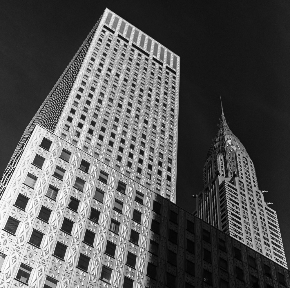 375 Lex and The Chrysler Building, NYC, 6x6 Kodak Tri-X 400 Film