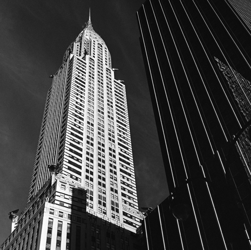 The Chrysler Building, NYC, 6x6 Kodak Tri-X 400 Film