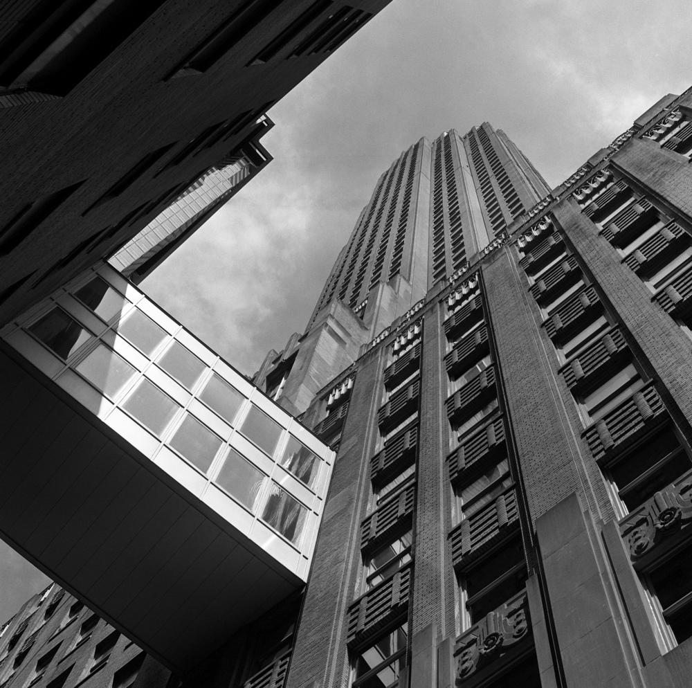 70 Pine Street, NYC, 6x6 Kodak Tri-X 400 Film