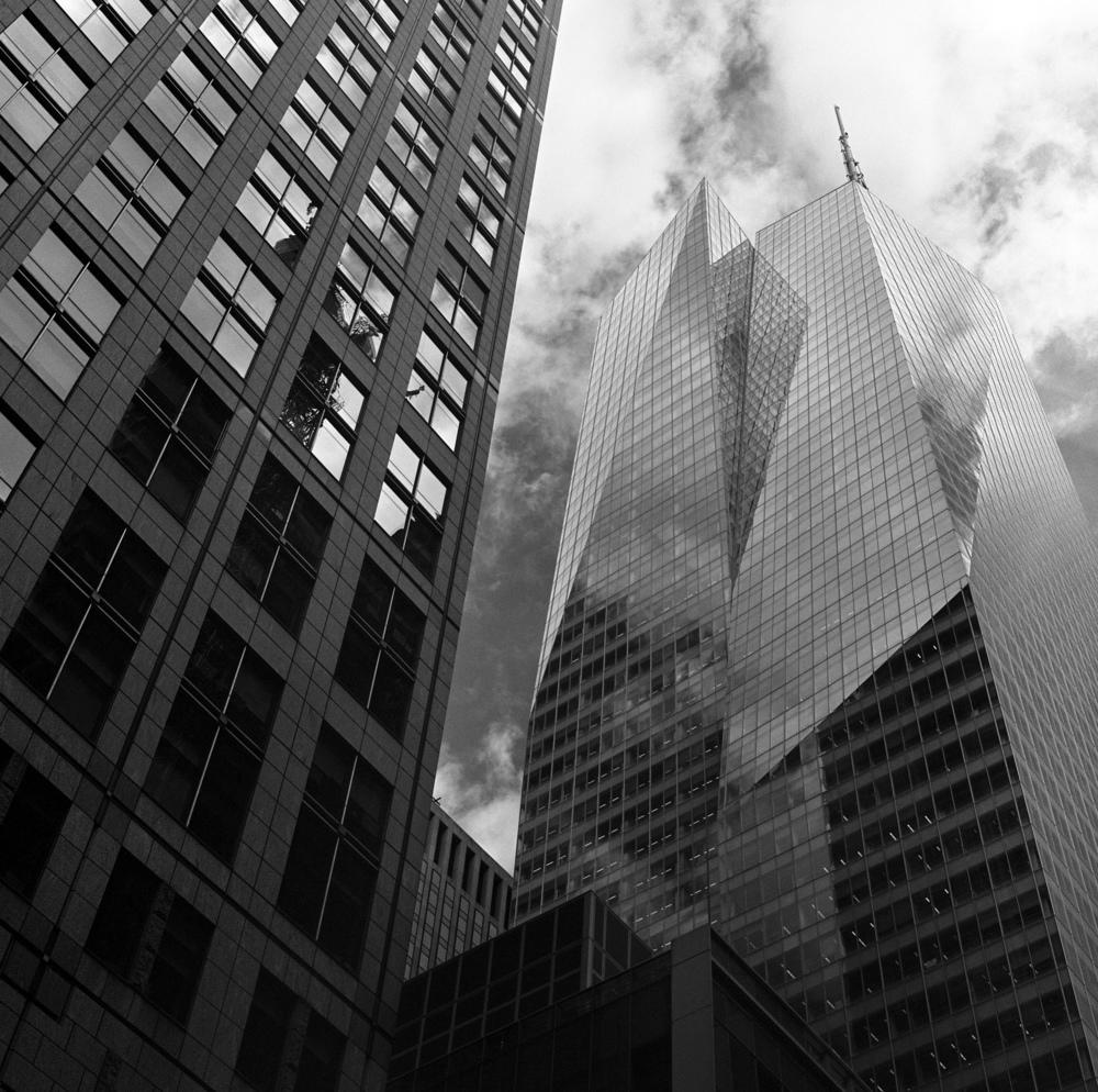 One Bryant Park, NYC, 6x6 Kodak Tri-X 400 Film