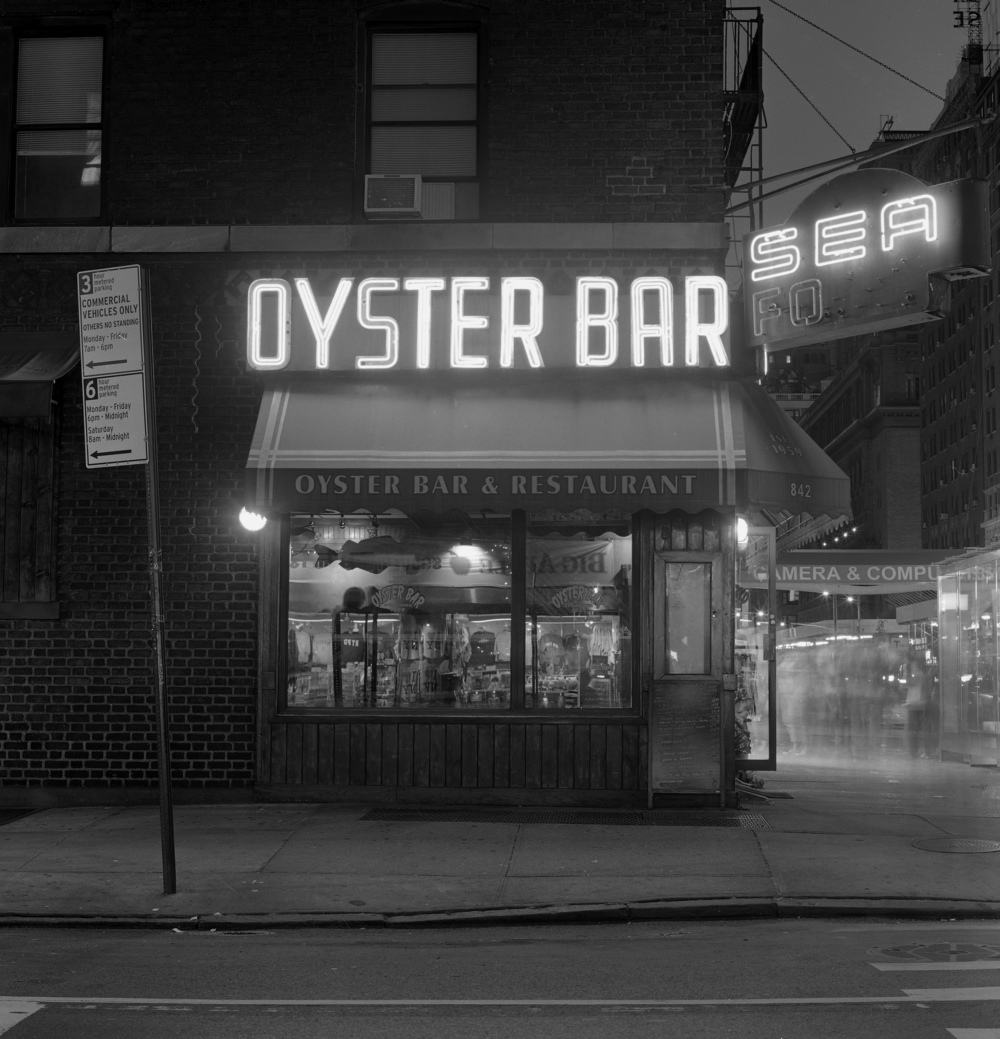 The Oyster Bar at Night, NYC, 6x6 Fuji Acros Film