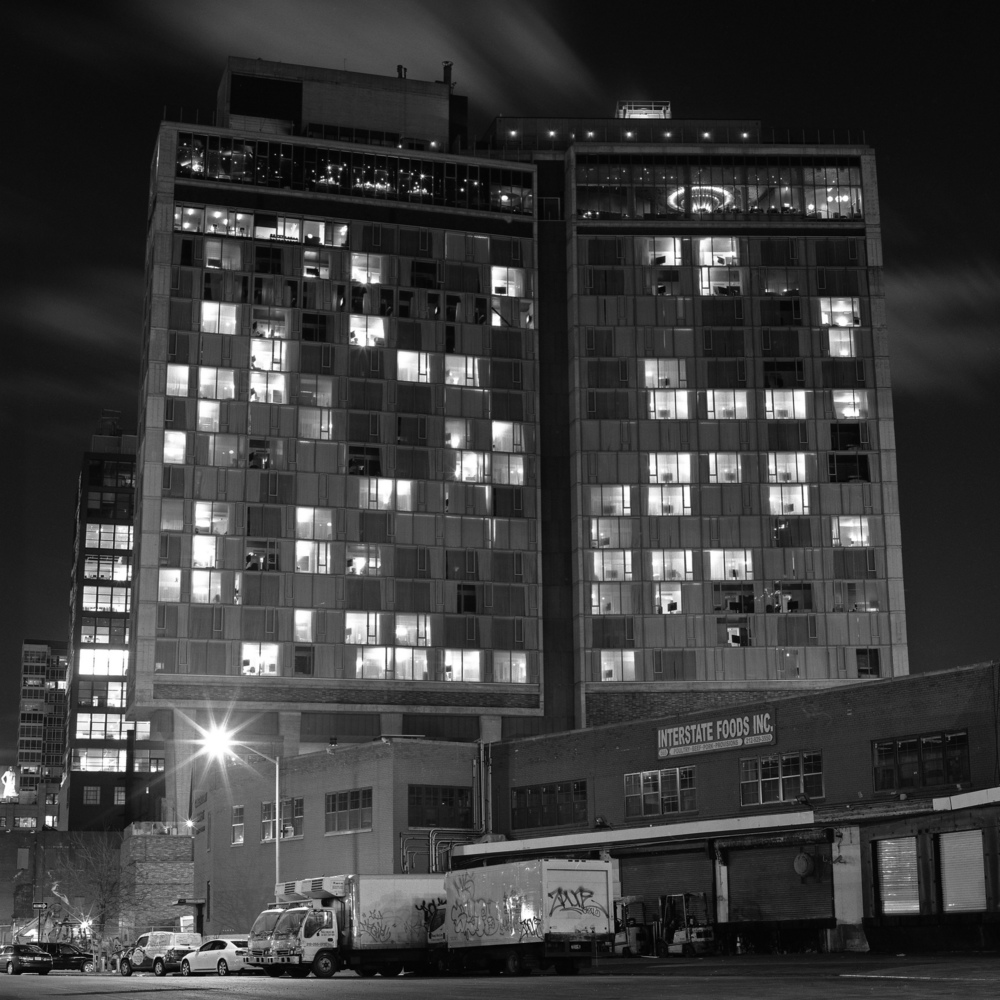 The Standard Hotel at Night, 6x6 Fuji Acros Film