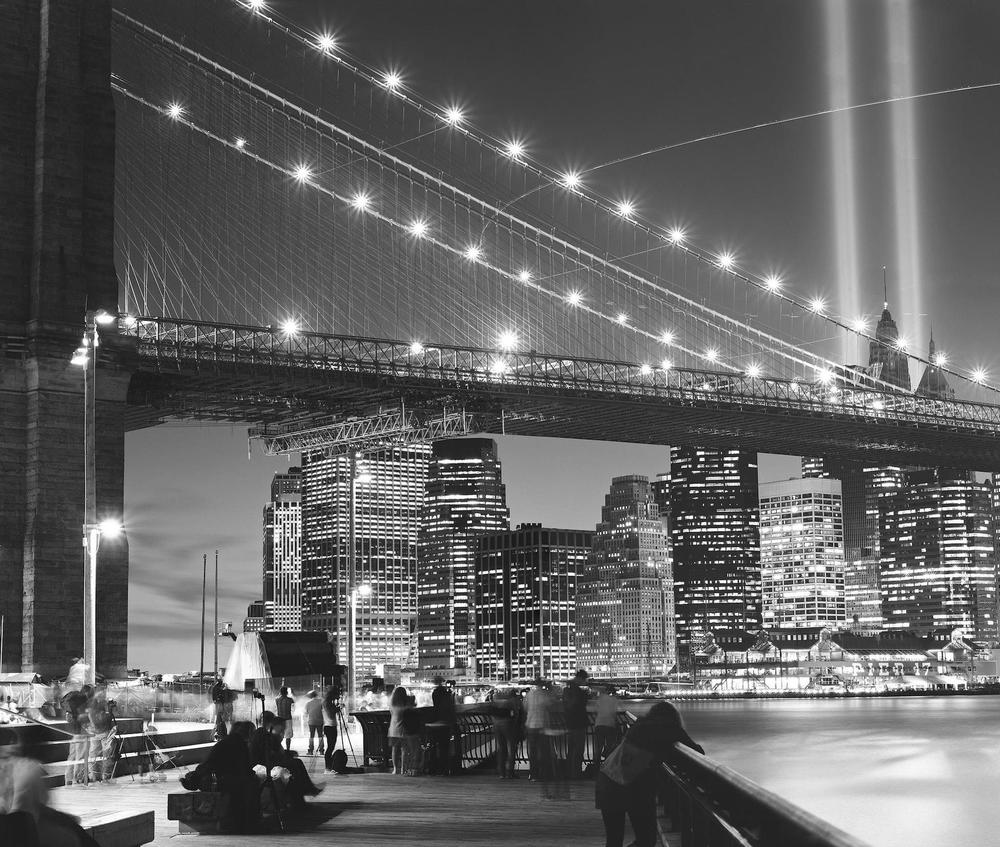 September 11 Tribute In Lights, NYC, 4x5 Fuji Acros Film