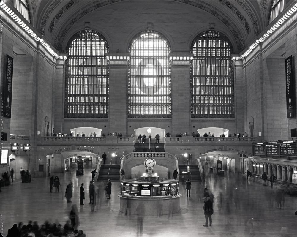 Grand Central Terminal, NYC, 8x10 Fuji HR-T X-Ray Film