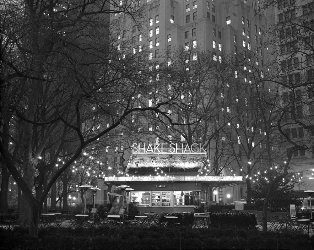 Madison Square Park Shack Shack, NYC, 8x10 Kodak Tri-X 320 Film