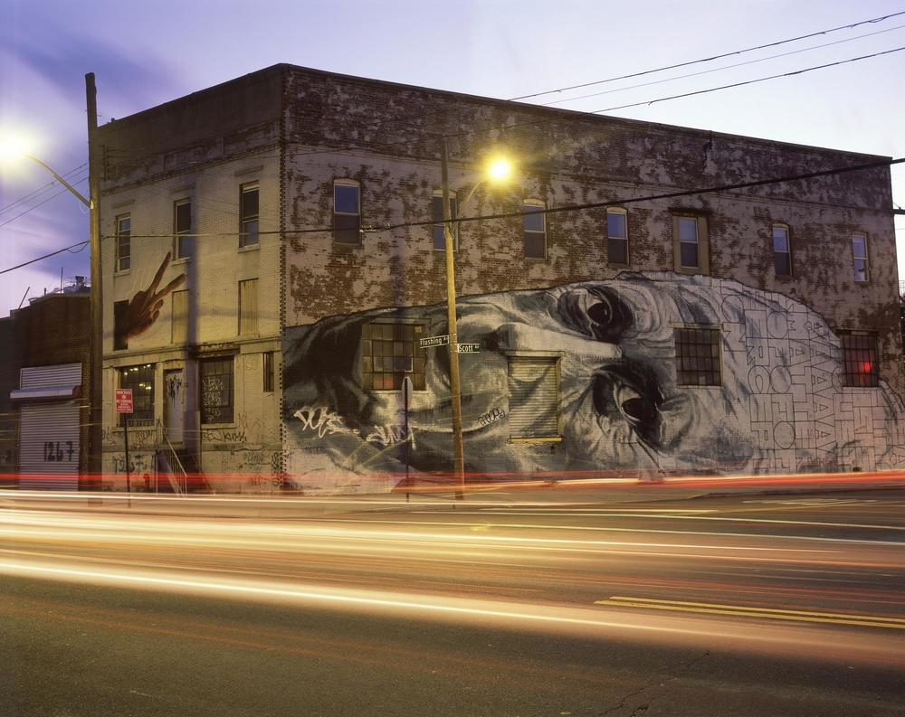 ECB Mural, Brooklyn, 4x5 Fuji Provia Film