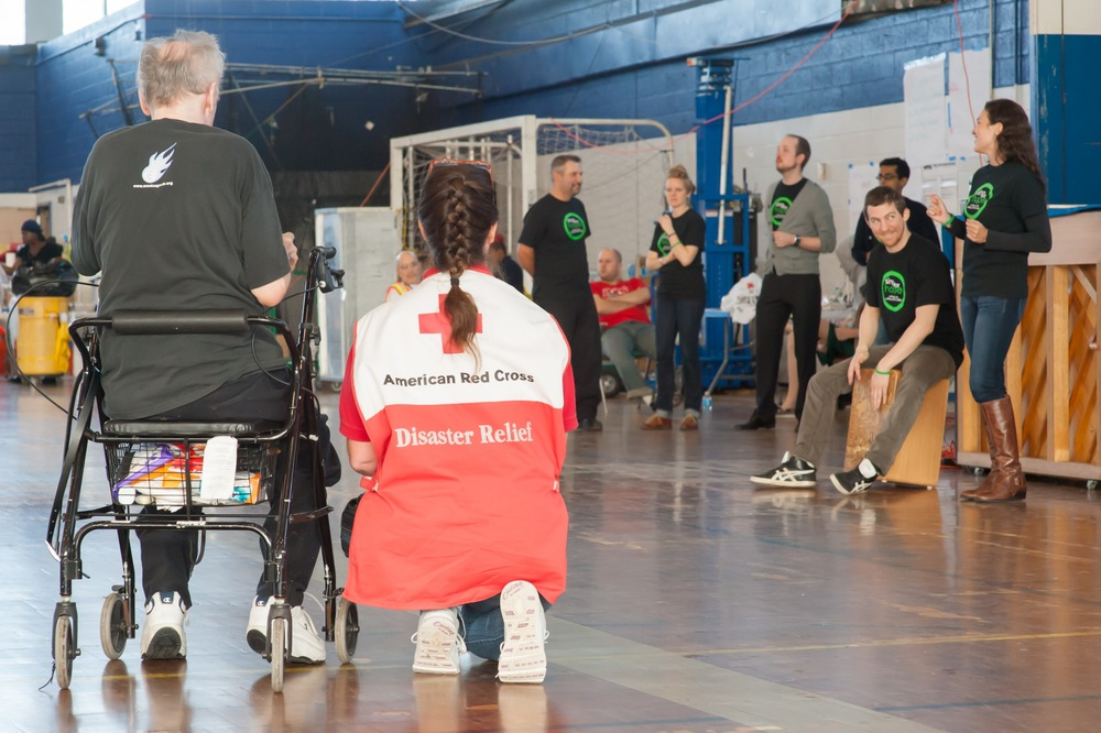 Sing for Hope Performers at a Hurricane Sandy Shelter in the Bronx