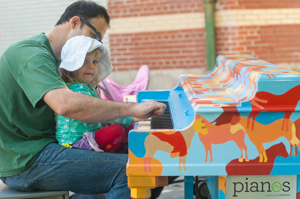 Father and Daughter Enjoying the Sing for Hope Piano in Prospect Park