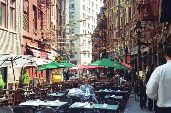 Stone Street before Lunch Rush, Financial District