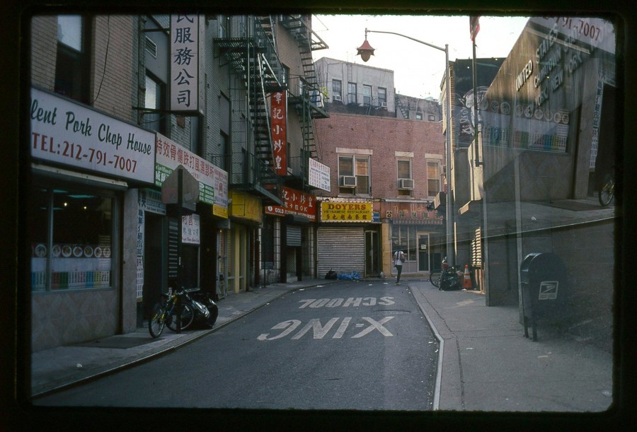 "NYC Chinatown's ""Bloody Angle"" Double Exposure, Kodachrome 64"