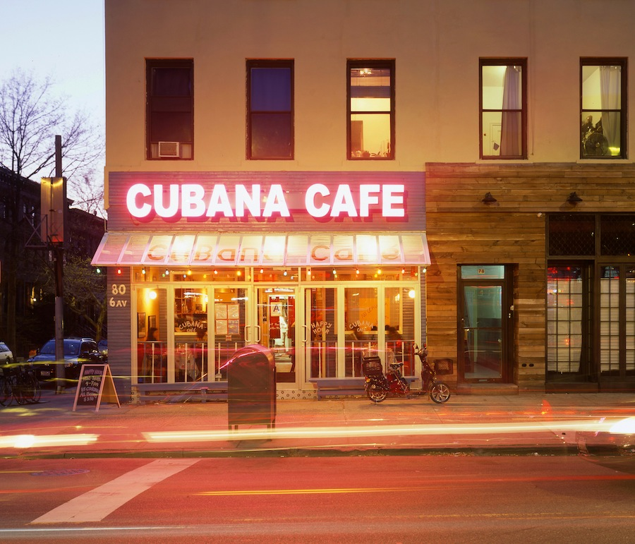 Cubana Cafe, Park Slope, Brooklyn Shot on Fuli Provia 100 4x5 Slide Film