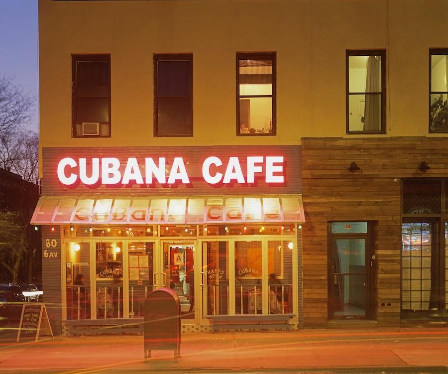 Cubana Cafe, Park Slope Brooklyn Shot on Fuli Provia 100 4x5 Slide Film