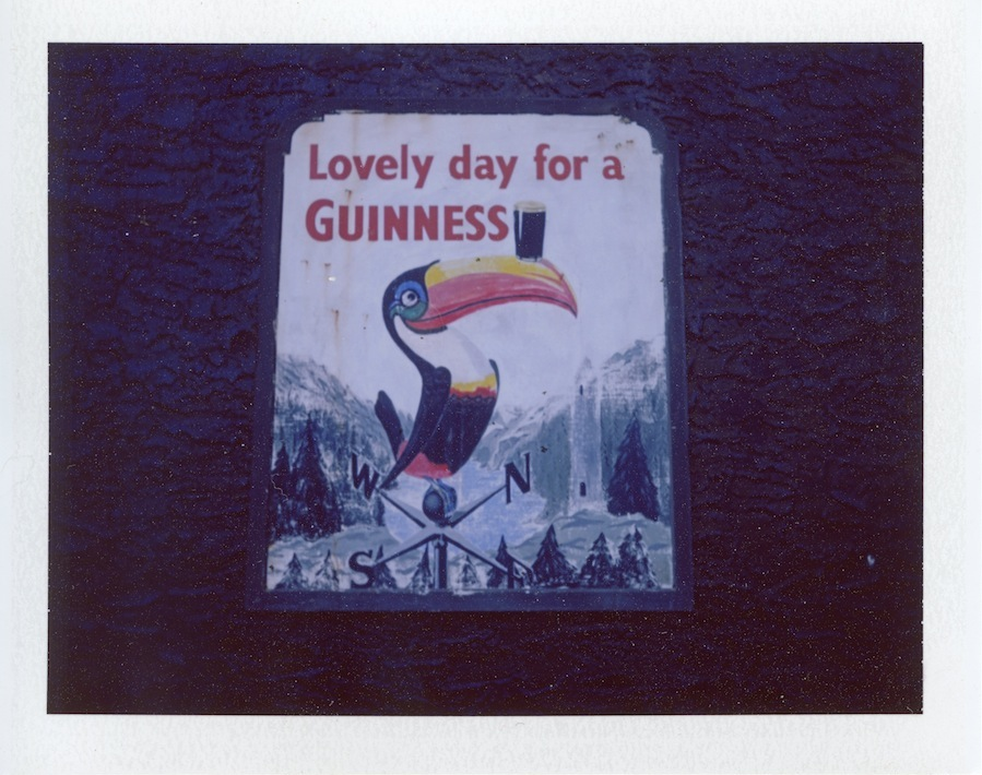 Lovely Day for a Guinness, Fuji FP100C in Polaroid Land Camera