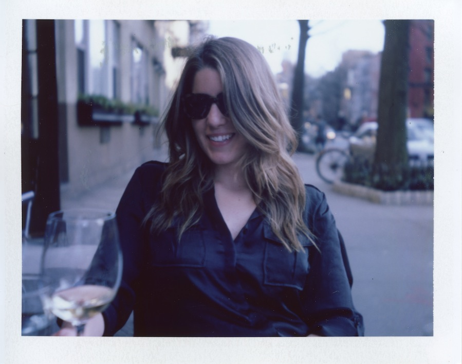 Kate at Frankies Outside Table, West Village, Fuji FP100C in Polaroid Land Camera