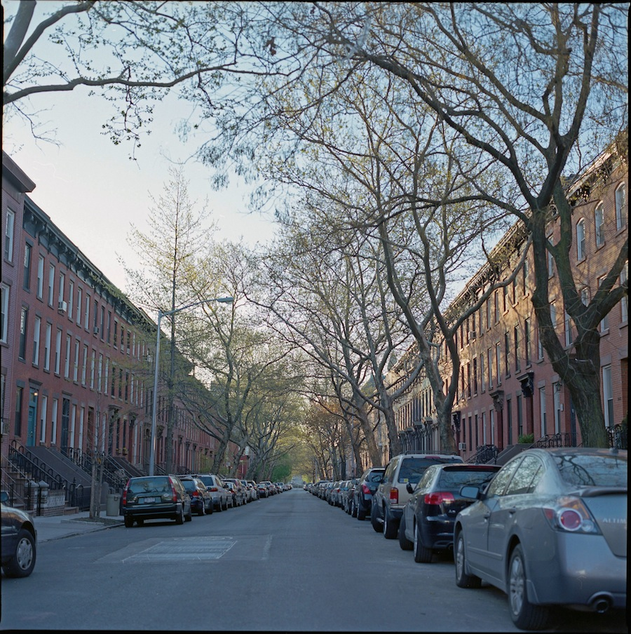 Park Slope, Early Morning Street View, Kodka Portra 400