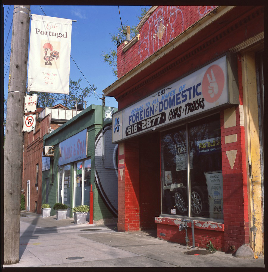 Auto Repair Shop, Toronto, Fuji Provia 100 Slide Film