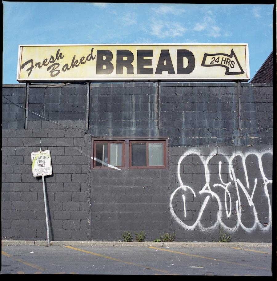 Fresh Baked Bread Sign, Toronto, Kodak Portra 400