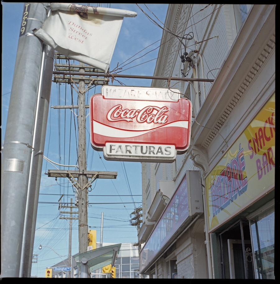 Old Coca Cola Sign, Toronto, Kodak Portra 400