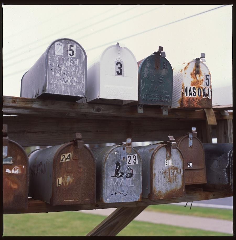 Mailboxes, Niagara Falls, Fuji Provia 100