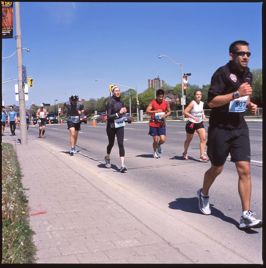Mile 25, Toronto Marathon, Fuji Provia 100 Slide Film