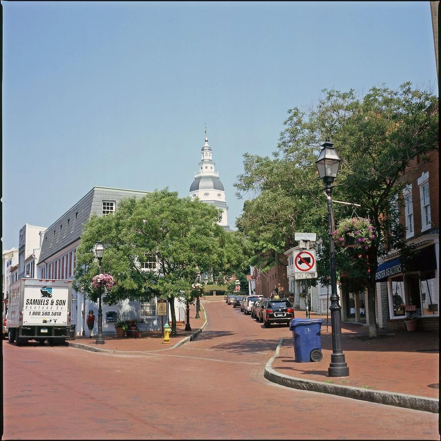 Annapolis Maine Street, Fuji Provia 100 Slide Film