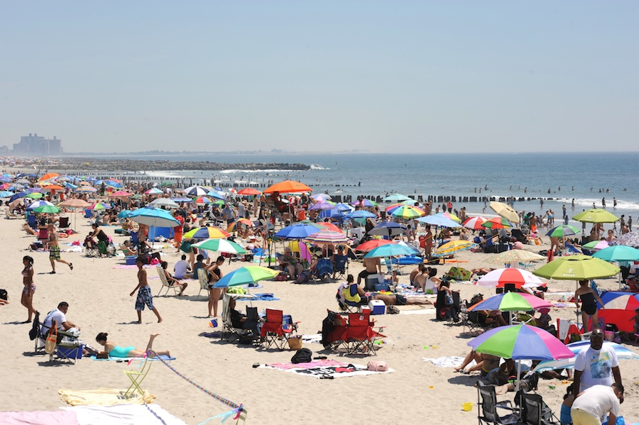 Crowded Rockaway Beach, Queens