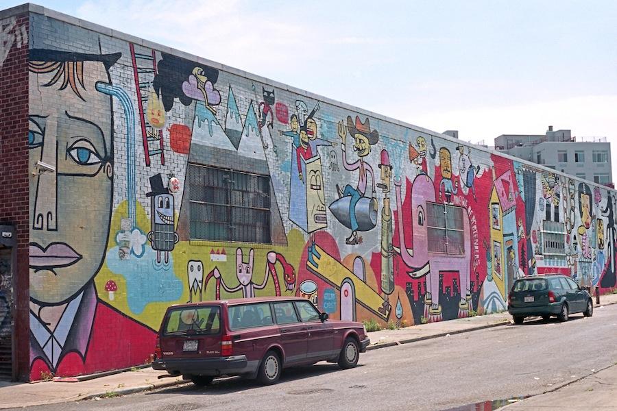 Bushwick Art Park, Jim Avignon, Pictoplasma, Brooklyn, Kodak Ektar 100