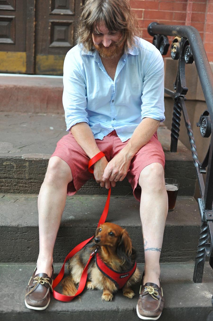 Chloe and Me, Our Stoop, Park Slope, Brooklyn