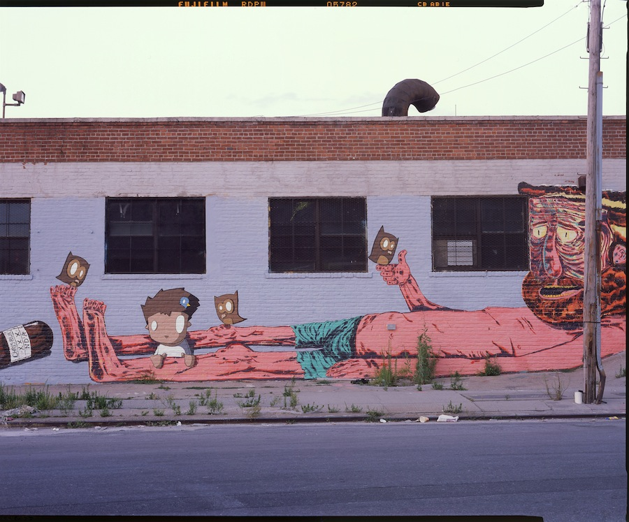 Chris Rwk and ND'A, Bushwick, Brooklyn, Fuji Provia 4x5 Slide Film