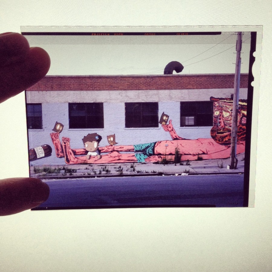 iPhone Shot of 4x5 Slide