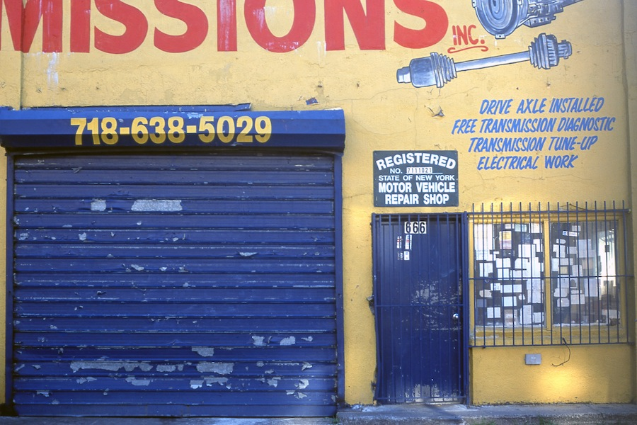 Transmissions and Auto Repair, Washington Avenue, Brooklyn, Fuji Provia 100