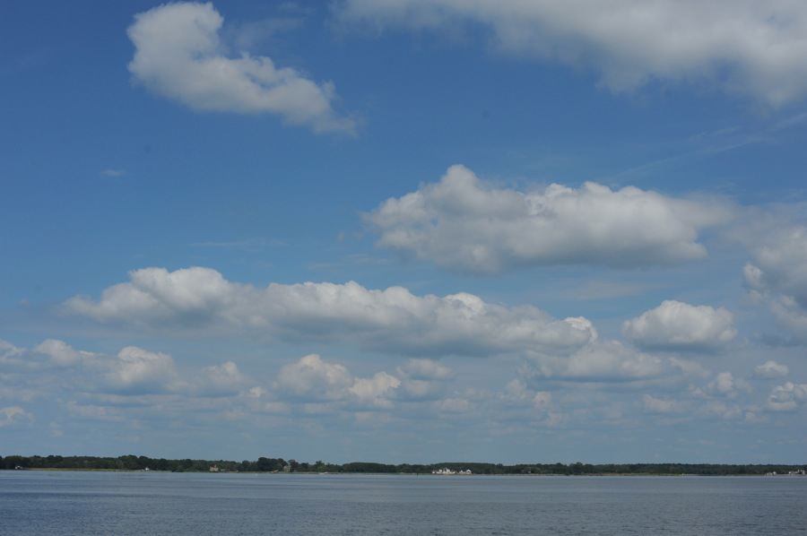 Clouds over Miles River, St. Michaels