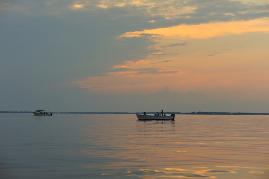 Fishing Boat on Miles River, St. Michaels, Maryland
