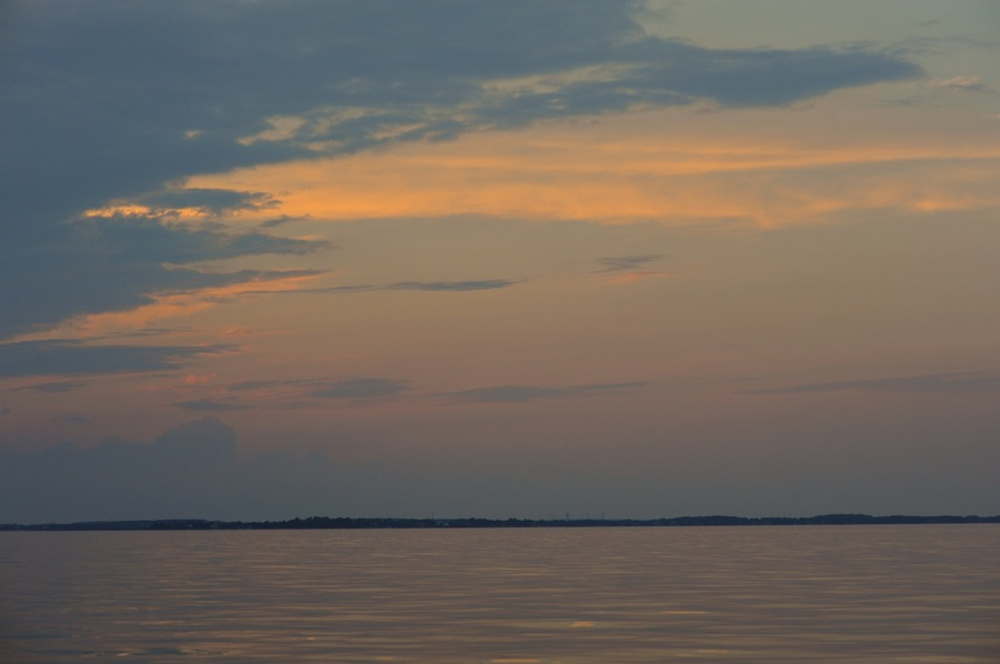 Miles River at Sunset from Boat, St. Michaels, Maryland