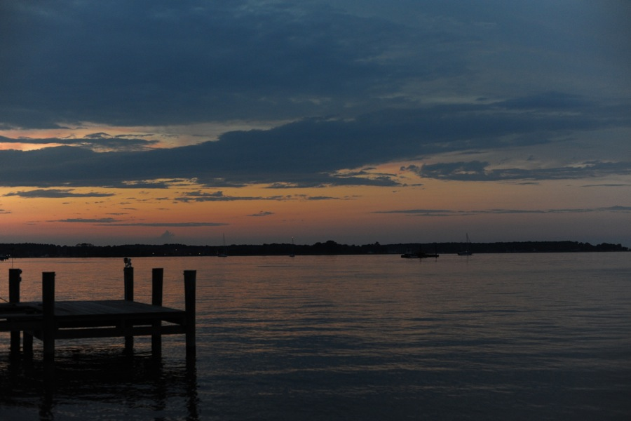 Neighbors Dock After Sunset, St. Michaels, MD