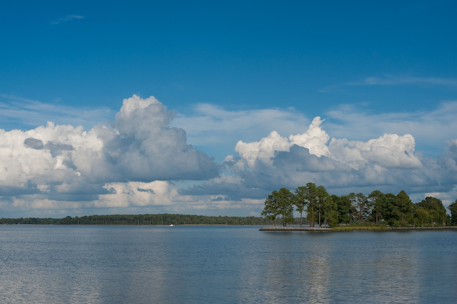 Cloud Bank and Trees, Miles River, St. Michaels, MD