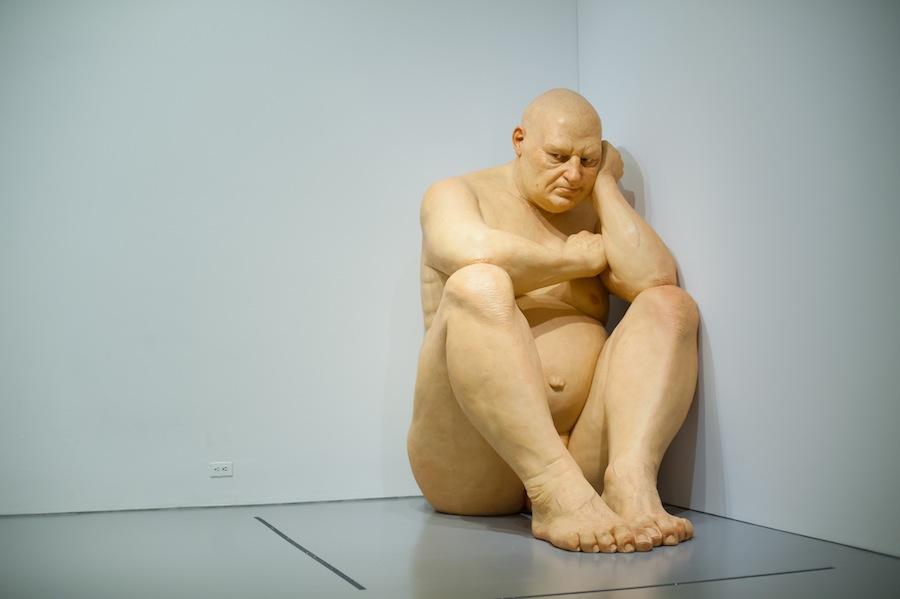 Ron Mueck's Big Man at the Hirshhorn Museum, Washington, DC