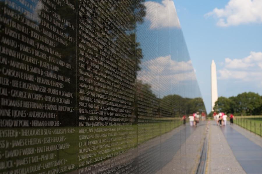 Vietnam Wall and Washington Monument, Washington, DC
