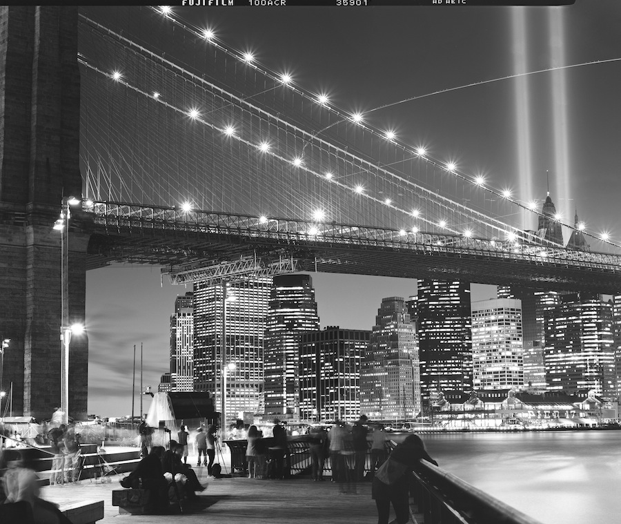 9/11 Tribute in Light Long Exposure on Fuji Neopan Acros 100 4x5 Film