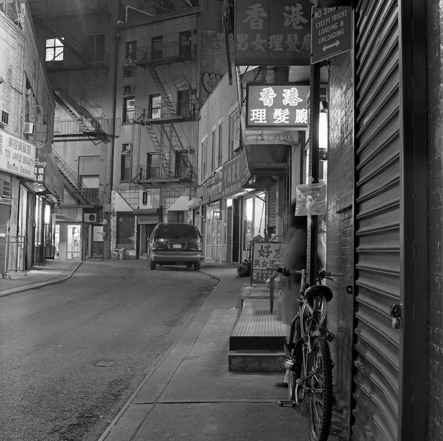 Doyers Street from Pell St, Chinatown, NYC, Fuji Neopan Acros 100