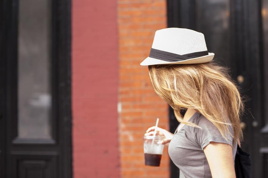 Kate Walking on Atlantic Avenue, Brooklyn, Nikon D700