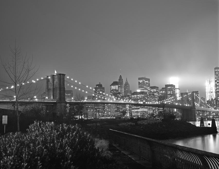 Brooklyn Bridge, Long Exposure, 8x10 Kodak Tri-X 320 Sheet Film