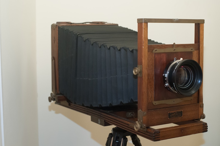 Eastman View Camera No. 2D with Schneider 300mm f5.6 lens