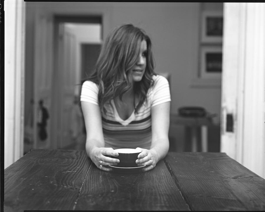 Kate and Coffee at f16, 8x10 Negative, Kodak Tri-X 320