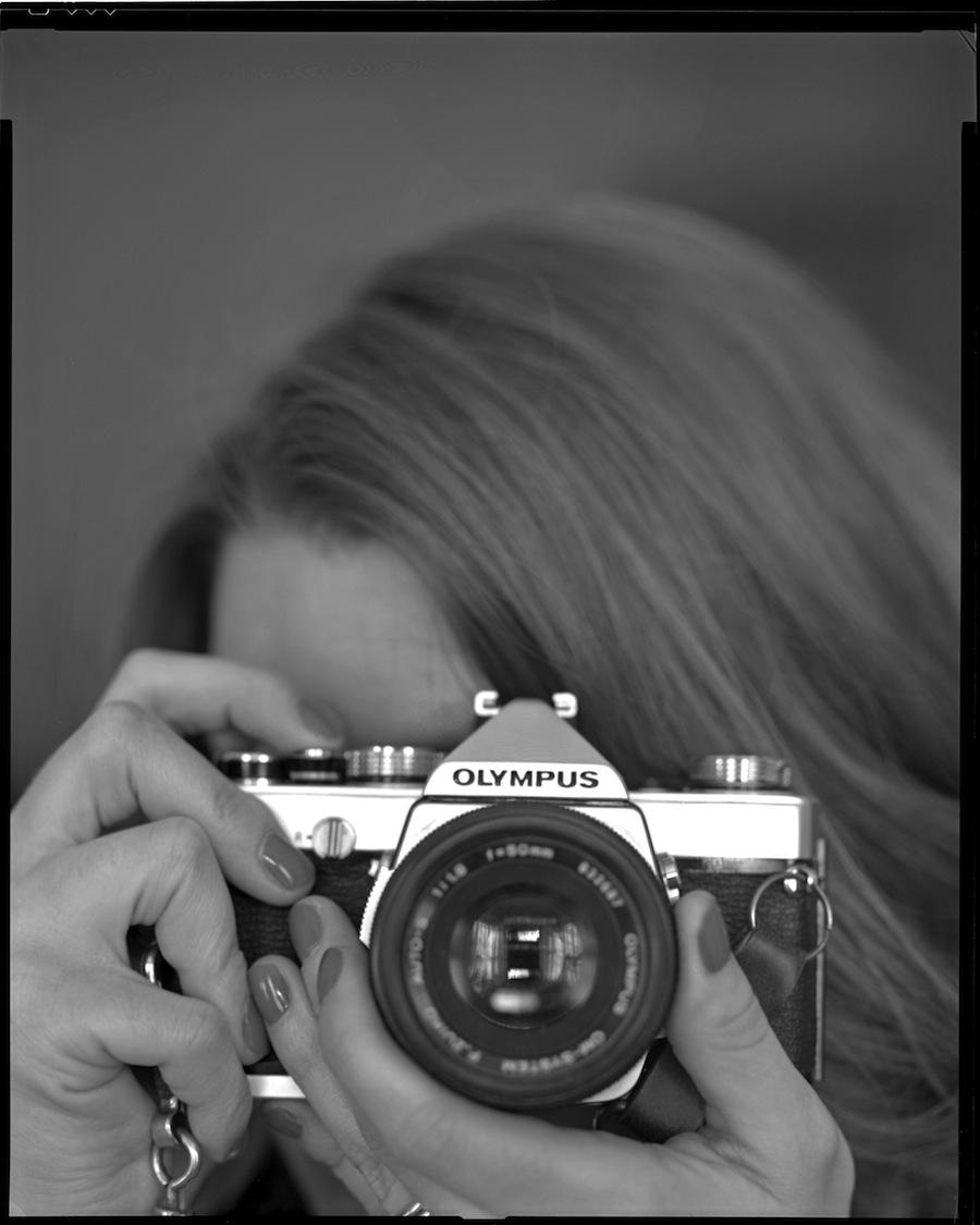 Kate and Olympus OM-1 Close Up Test, 8x10, Kodak Tri-X 320