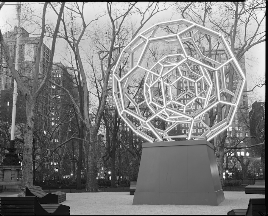 Leo Villareal's Buckyball, Madison Square Park, Fuji HR-T X-Ray Film Developed in Trays, Total Darkness