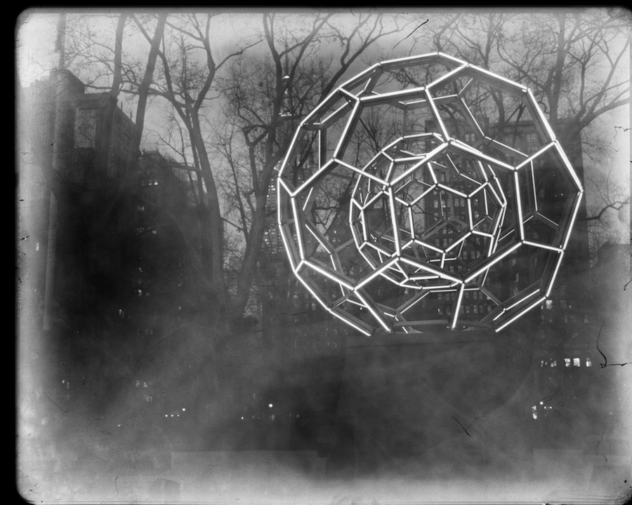 Leo Villareal's Buckyball, Madison Square Park, Fuji HR-T X-Ray Film Developed in Ziploc Bag Under Red Light