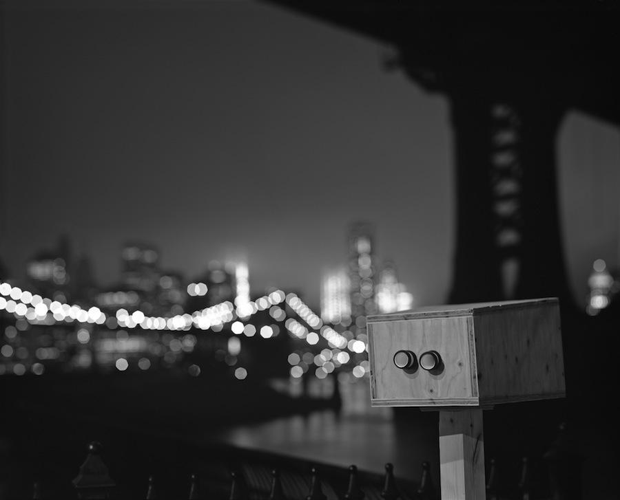 Wall-E at Manhattan Bridge, Long Exposure on 8x10 Kodak Tri-X 320 Sheet Film