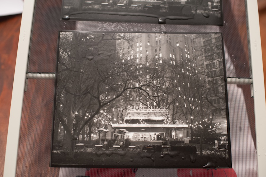 8x10 Contact Print Before Squeegee